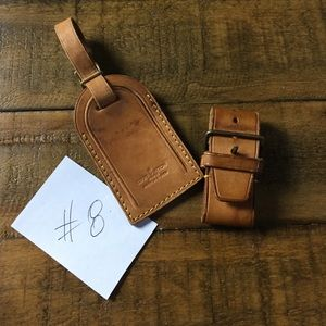 Louis Vuitton 💯Authentic Luggage Tag and Strap